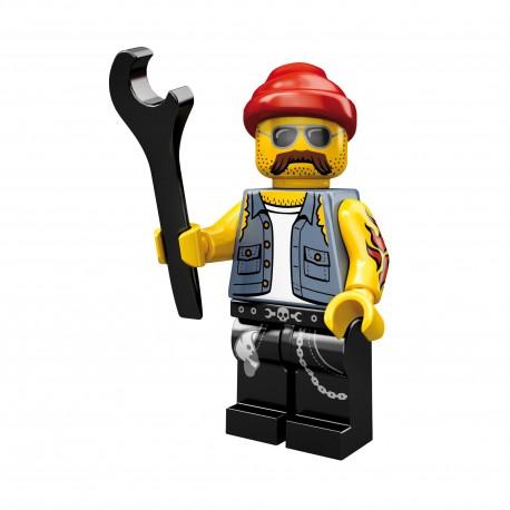 Lego Minifig Serie 10 le mécanicien moto (La Petite Brique)
