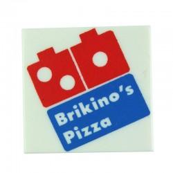 Lego Custom Minifig EclipseGRAFX Brikino's - Pizza Box (Blanc) (La Petite Brique)