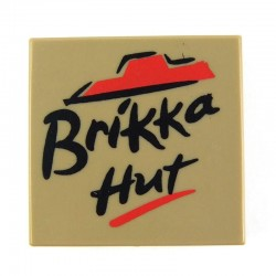 Brikka Hut - Pizza Box (Dark Tan)