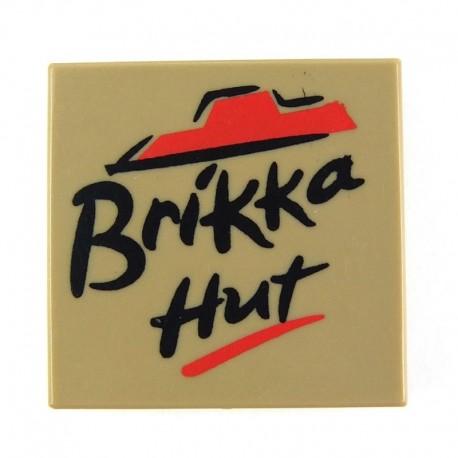 Lego Custom Minifig EclipseGRAFX Brikka Hut - Pizza Box (Dark Tan) (La Petite Brique)