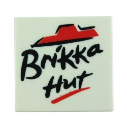 Brikka Hut - Pizza Box (White)