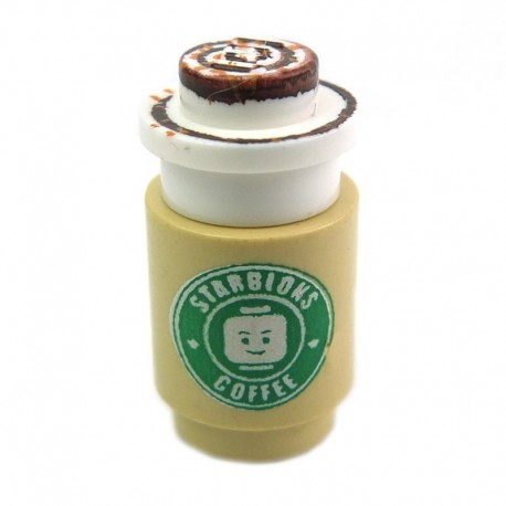 Lego Custom Minifig EclipseGRAFX Starbloks - Frosty Brew (La Petite Brique)