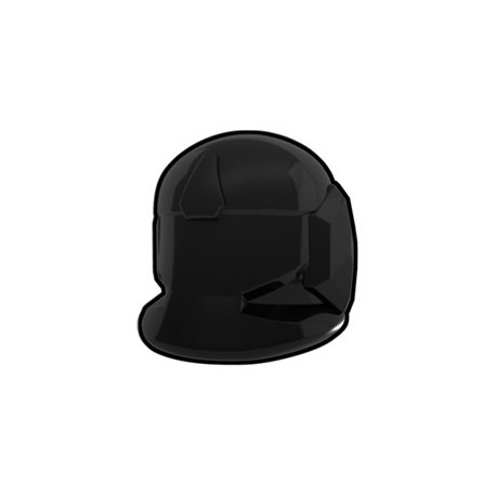 Lego Custom Minifig AREALIGHT Black Comm Helmet (La Petite Brique)