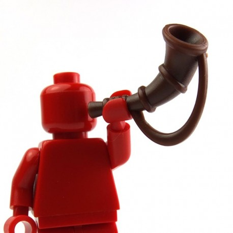 Lego Custom BRICK WARRIORS Battle Horn (marron) La Petite Brique