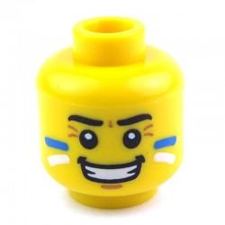 Lego Accessoires Minifig Tête masculine jaune, 27 (La Petite Brique)
