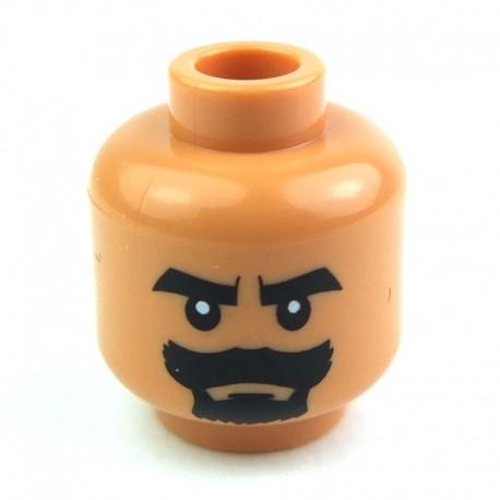 Lego Accessoires Minifig Tête masculine, chair, 11 (La Petite Brique)