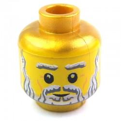 Lego Accessoires Minifig Tête à double visage (Pearl Gold) (La Petite Brique)