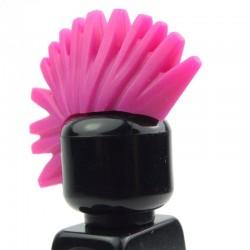 Magenta Minifig, Headgear Hair Mohawk