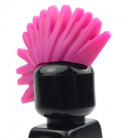 Lego Accessoires Minifig Cheveux crête punk iroquoise (magenta) (La Petite Brique)
