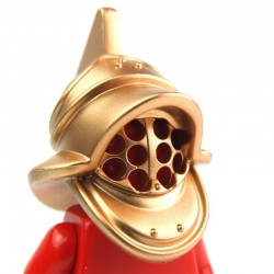 Lego Accessoires Minifig Casque Gladiateur (Metallic Gold) (La Petite Brique)