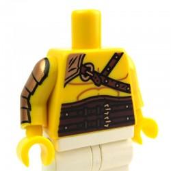 Lego Accessoires Minifig Torse Gladiateur, armure dorée sur le bras (La Petite Brique)