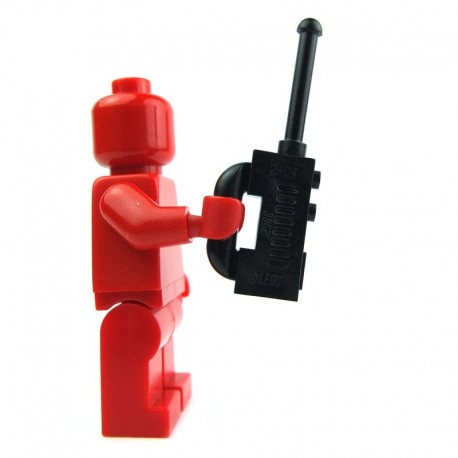 Black Minifig, Utensil Radio with Extended Handle
