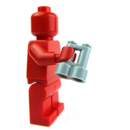 Lego Accessoires Minifig Jumelles (Light Bluish Gray) (La Petite Brique)