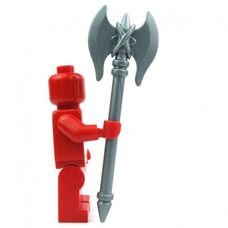 Lego Custom Accessoires Minifig BRICK WARRIORS Hache de Minotaure (silver) (La Petite Brique)