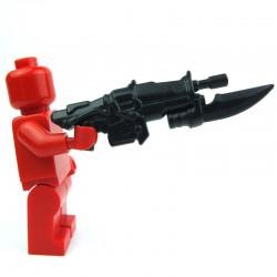 Lego Custom Accessoires Minifig BRICK WARRIORS Fusil d'assaut Impaler (noir) (La Petite Brique)