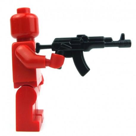 Lego Custom Accessoires Minifig BRICK WARRIORS Fusil d'assaut russe AK74 (noir) (La Petite Brique)