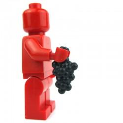 Lego Custom Accessoires Minifig BRICK WARRIORS grappe de raisin (noir) (La Petite Brique)