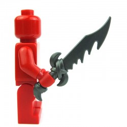 Lego Custom BRICK WARRIORS Dragon Sword (steel) La Petite Brique