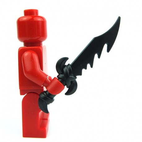 Lego Custom BRICK WARRIORS Dragon Sword (noir) La Petite Brique