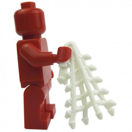 Lego Custom Accessoires Minifig BRICK WARRIORS Filet de Retiarius (blanc) (La Petite Brique)