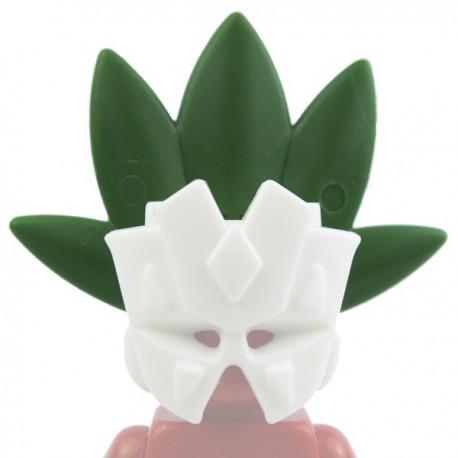 Lego Custom Accessoires Minifig BRICK WARRIORS Plume Tribale (vert) (La Petite Brique)