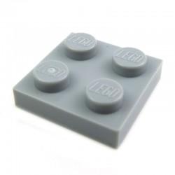Lego Pièces Détachées Plaque 2x2 (Light Bluish Gray)