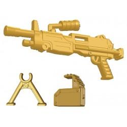 Lego Si-Dan Toys M249 Minimi (Mini-mitrailleuse) (Beige foncé) (La Petite Brique)