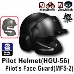 Pilot Helmet HGU-56 + MFS-2 (Black)