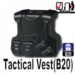 Lego Si-Dan Toys Tactical Vest B20 (noir) (La Petite Brique)