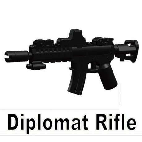 Lego Si-Dan Toys Diplomat Rifle (noir) (La Petite Brique)
