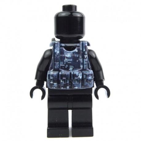 Lego Custom Si-Dan Toys Tactical Vest B12 (Digital Blue camouflage) (La Petite Brique)