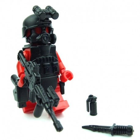 Lego Custom Si-Dan Toys S.W.A.T. A-Team (ASSAULTER Alfa2) Pack (10 pièces) (noir) (La Petite Brique)