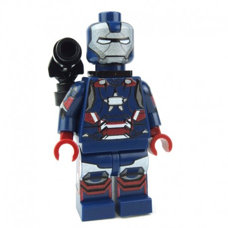 Lego Custom Minifig Minifigs4U Iron Patriot (Iron Man 3) (La Petite Brique) Super Heroes