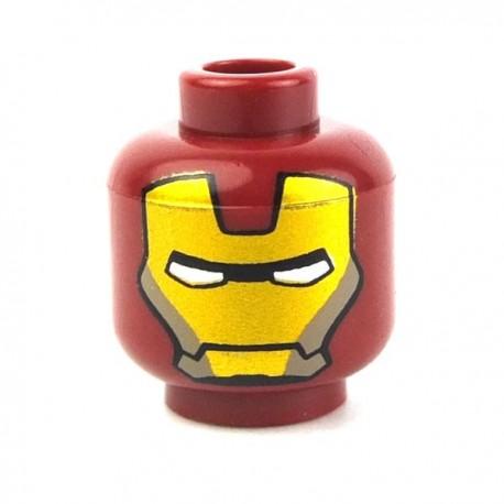 Lego Custom Minifig Minifigs4U Tête Iron Man (La Petite Brique) Super Heroes