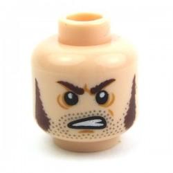 Lego Accessoires Minifig Tête masculine, chair, 16 (La Petite Brique)