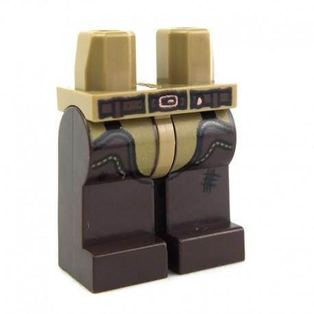 Lego Accessoires Minifig Jambes - Dark Tan / Dark Brown (La Petite Brique)