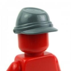 Lego Accessoires Minifig Casquette Militaire - Kepi (Dark Bluish Gray) (La Petite Brique)