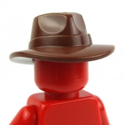 Lego Accessoires Minifig Fedora (Reddish Brown) (La Petite Brique)