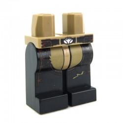 Lego Accessoires Minifig Jambes - Cowboy (Dark Tan / Black) (La Petite Brique)