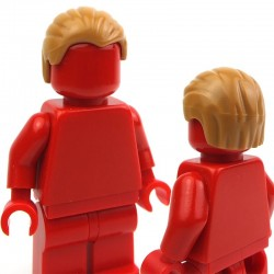 Lego Accessoires Minifig Cheveux en arrière (Medium Dark Flesh) (La Petite Brique)