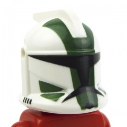 White Minifig, Headgear Helmet SW Clone Trooper, Commander Gree