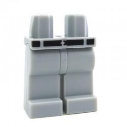 Lego Accessoires Minifig Jambes avec ceinture noire (Light Bluish Gray) (La Petite Brique)