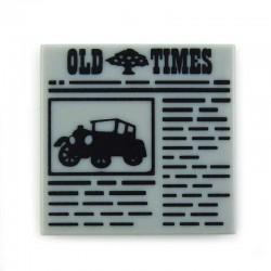Lego Accessoires Minifig Tile 2x2 Journal 'OLD TIMES' (La Petite Brique)