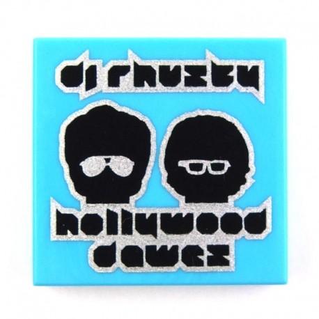 Lego Accessoires Minifig Pochette Disque 'dj rhuzky', 'hollywood dawez' (La Petite Brique)