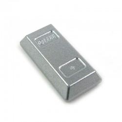 Lego Accessoires Minifig lingot argent (Metallic Silver) (La Petite Brique)
