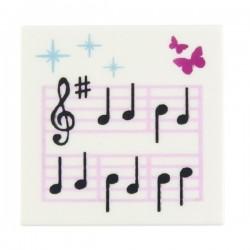 Lego Accessoires Minifig Partition musique (Tile 2x2) (La Petite Brique)