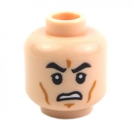 Lego Accessoires Minifig Tête masculine, chair, 22 (La Petite Brique)