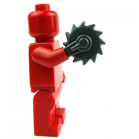 Lego Custom Accessoires Minifig BRICK WARRIORS Buzzsaw Hand (steel) (La Petite Brique)