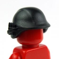 Lego Custom Accessoires Minifig BRICK WARRIORS Casque Militaire (noir) (La Petite Brique)