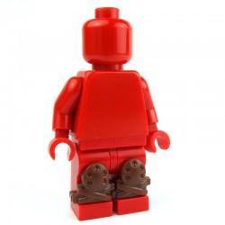 Lego Custom Accessoires Minifig BRICK WARRIORS Genouillères (marron) (La Petite Brique)
